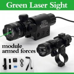 Laser Verde cu Acumulator Pentru Arma de Vanatoare 5 MW