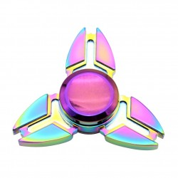 Jucarie Metalica Anti-Stres Fidget Spinner Triunghi Multicolor