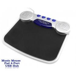 Mouse Pad 4 in 1 Iluminat Cu Hub Usb, Microfon si Boxe
