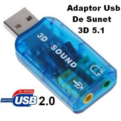 Audio Usb Adaptor  3D Sound 5.1
