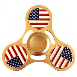 Jucarie Metalica Anti-Stres Fidget Spinner Steagul Americii