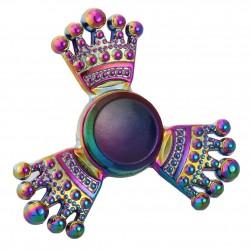 Jucarie Metalica Anti-Stres Fidget Spinner Coroana Multicolora