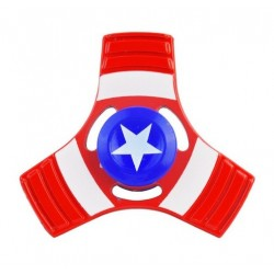 Jucarie Metalica Anti-Stres Fidget Spinner Capitan America