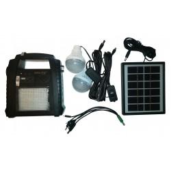 Incarcator Solar Universal GDLITE GD-8052 cu Lanterna si 2 Becuri Led Extensibile