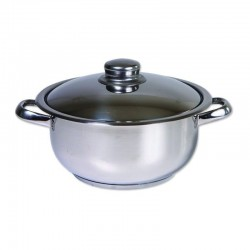 Oala cu Capac Cocinera din Inox, 20 Cm, 2L, ZLN-7239