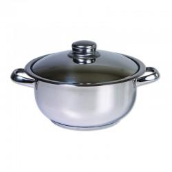 Oala cu Capac Cocinera din Inox, 24 Cm, 6L, ZLN-7253