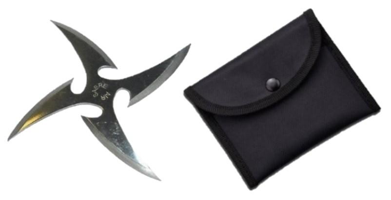 Stea Ninja cu 4 Colturi Shuriken Shaken